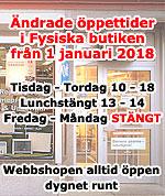 Nya öppettider från och med 1 Januari 2018
