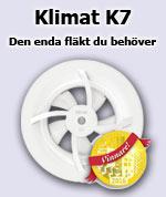 Klimat K7 badrumsfläkt