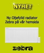Zebra oljefylld radiator